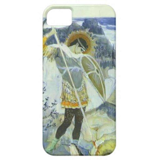 Mikhail Nesterov- San Jorge y dragón iPhone 5 Carcasa