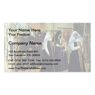 Mikhail Nesterov- The Taking of the Veil Business Card Template