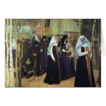 Mikhail Nesterov- The Taking of the Veil Greeting Card