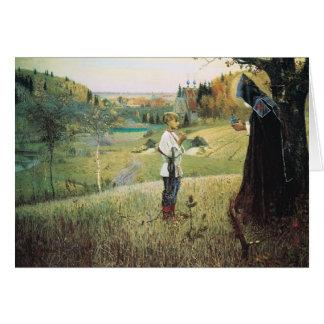Mikhail Nesterov- Vision del Bartholomew joven Tarjeton