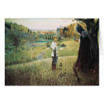 Mikhail Nesterov- Vision of the Young Bartholomew Greeting Cards