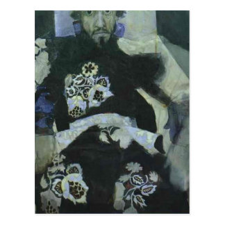 Mikhail Vrubel- A Man in Russian Old Style Costume Postcard