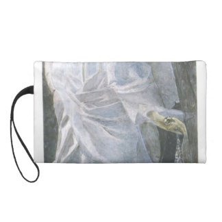 Mikhail Vrubel- Angel with censer and candle Wristlet Purse