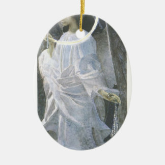 Mikhail Vrubel- Angel with censer and candle Christmas Ornaments