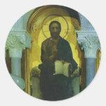Mikhail Vrubel- Christ Round Stickers