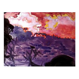 Mikhail Vrubel- Fantastic landscape Postcard