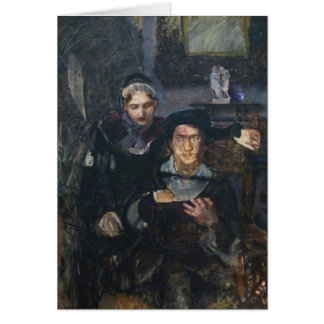 Mikhail Vrubel- Hamlet and Ophelia Greeting Card