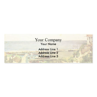 Mikhail Vrubel- Odessa harbour Double-Sided Mini Business Cards (Pack Of 20)