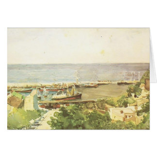 Mikhail Vrubel- Odessa harbour Greeting Card