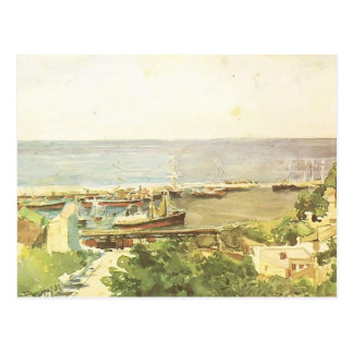 Mikhail Vrubel- Odessa harbour Postcard