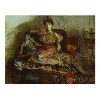 Mikhail Vrubel- Portrait of Nadezhda Zabela Postcard