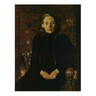 Mikhail Vrubel-Portrait of wife of the businessman Postcard