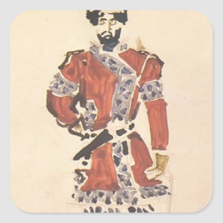 Mikhail Vrubel- Prince's huntsman Square Sticker