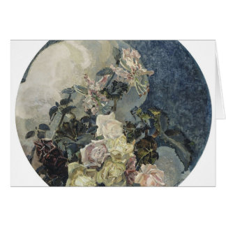 Mikhail Vrubel- Roses and orchids Greeting Cards