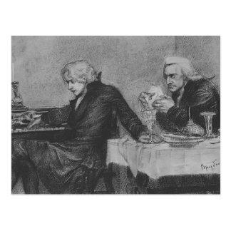 Mikhail Vrubel- Salieri vierte el veneno, vidrio d Tarjeta Postal
