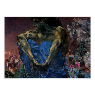 Mikhail Vrubel- Seated Demon Poster
