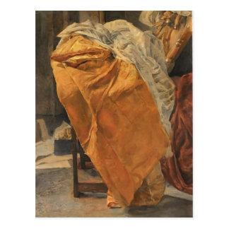 Mikhail Vrubel- Still life. Fabrics. Postcard