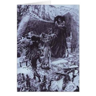 Mikhail Vrubel- Tamara Dancing Greeting Card