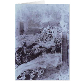 Mikhail Vrubel- Tamara Lying in State Cards