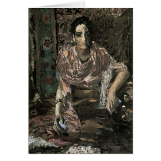 Mikhail Vrubel- The Fortune Teller Greeting Card