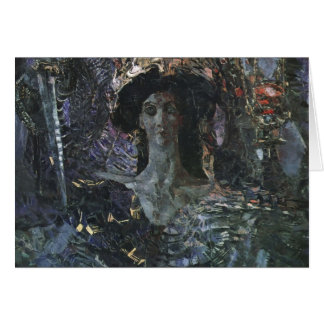 Mikhail Vrubel- The Six Winged Seraph Greeting Cards