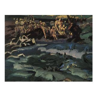 Mikhail Vrubel- Thirty-three knights Postcard