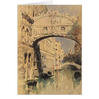 Mikhail Vrubel- Venice. Bridge of Sighs Card