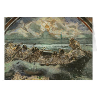 Mikhail Vrubel- Walking on Water Greeting Cards