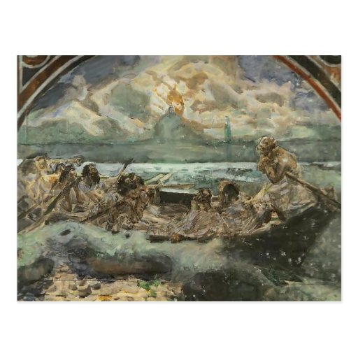 Mikhail Vrubel- Walking on Water Post Cards