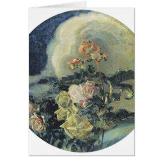 Mikhail Vrubel- Yellow roses Card