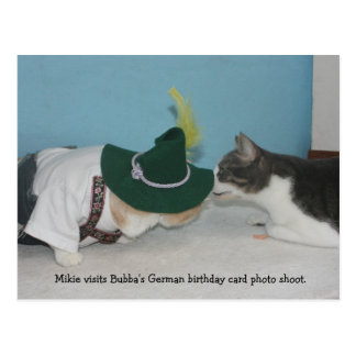 Mikie at the German BD Photo Shoot Postcard