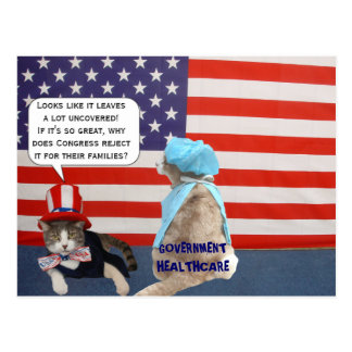 Mikie on Government Healthcare Postcard