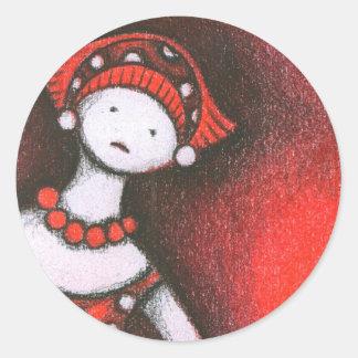 Mikiko Classic Round Sticker