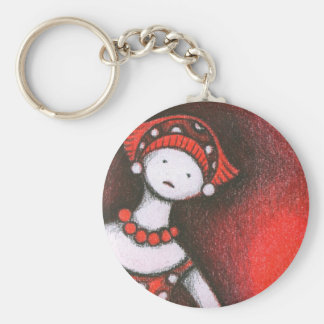 Mikiko Basic Round Button Keychain