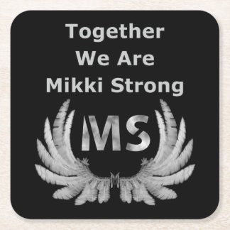 Mikki Strong Paper Coaster Square Paper Coaster