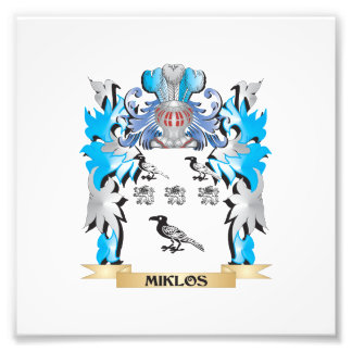 Miklos Coat of Arms - Family Crest Art Photo