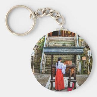 Miko Collecting Shrine Money Keychain