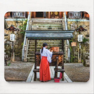 Miko Collecting Shrine Money Mouse Pads
