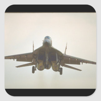 Mikoyan MIG-29 'Fulcrum_Aviation Photography II Square Sticker
