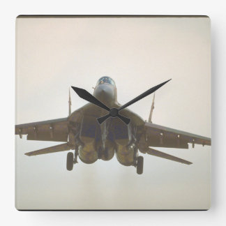Mikoyan MIG-29 'Fulcrum_Aviation Photography II Square Wall Clock
