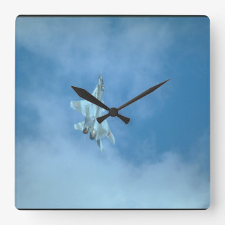 Mikoyan MIG-29 Fulcrum_Aviation Photography Square Wall Clock