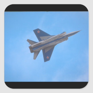 Mikoyan MIG-31 Foxhound_Aviation Photography Square Sticker