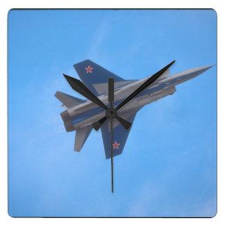 Mikoyan MIG-31 Foxhound_Aviation Photography Square Wall Clock