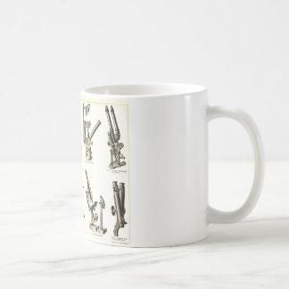 mikroscope classic white coffee mug