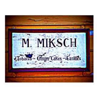 Miksch House Sign Postcard