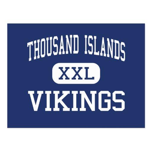 Mil centros Clayton de Vikingos de las islas Tarjeta Postal