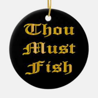Mil debe pescar adorno redondo de cerámica