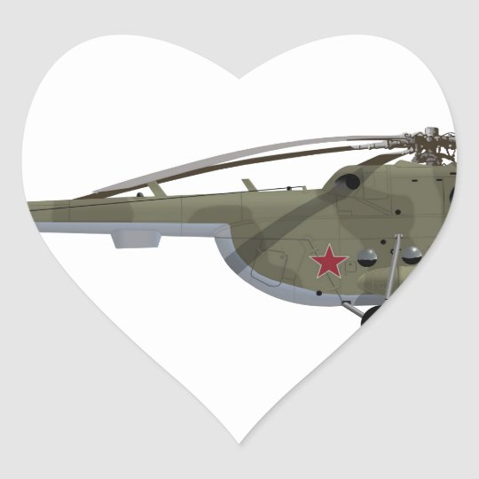 Mil Mi-8 Hip Heart Sticker