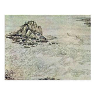 Mil millas suben el río Yangzi adelante por pálido Tarjeta Postal