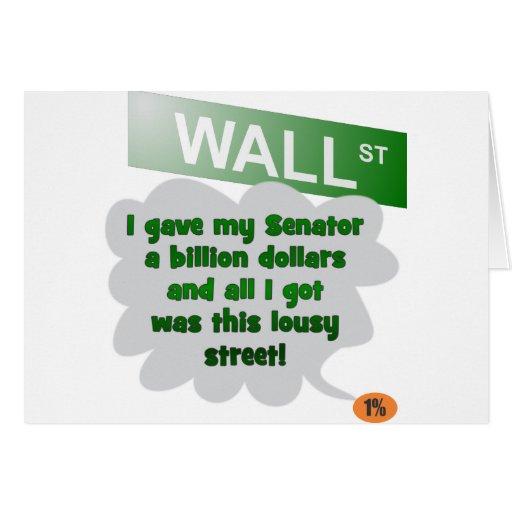 Mil millones calles el 99% del dólar tarjeta de felicitación